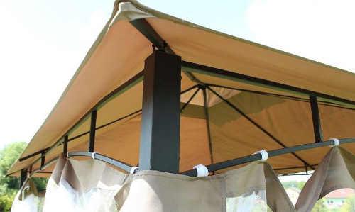 Bytelná kovová konstrukce zahradního altánu