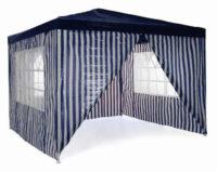 Pruhovaný modro-bílý zahradní párty stan 3 x 3 m