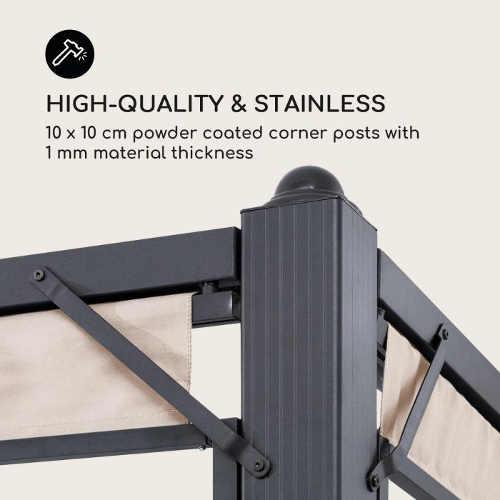 Stabilní a bytelný kovový zahradní altánek