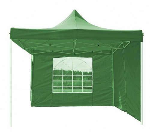 Zelený prodejní stánek na vánoční trhy