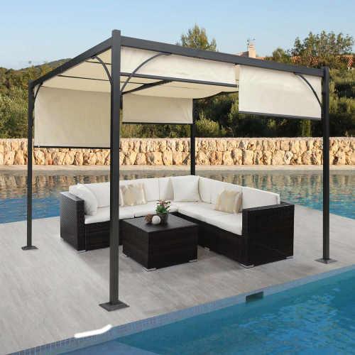 Pergola se stahovací střechou 3x3m