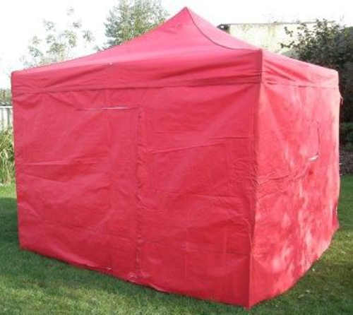 Červený zahradní altán 3x3m