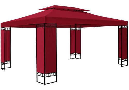 Červený zahradní altán 3 x 4 m