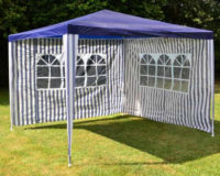 Elegantní, voděodolný a cenově dostupný zahradní stan v modrém provedení