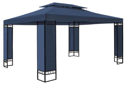 Modrý zahradní altán o rozměrech 3 x 4 m