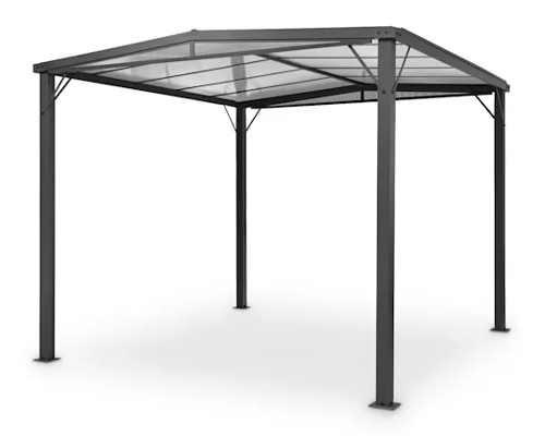 Zahradní hliníková pergola 3 x 3 m s polykarbonátovou střechou
