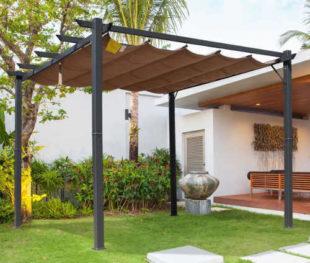 Zahradní hliníková pergola se zatahovací střechou 3 x 3 m