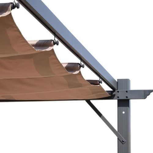 Zatahovacím látková střecha na pergolu
