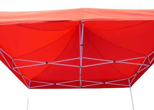 Nůžkový párty stan 3 x 3 m s červenou střechou