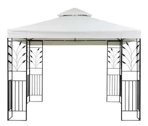 Romantický zahradní přístřešek s kovovou konstrukcí