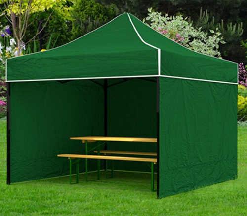 Zelený párty stan 3 x 3 metry báječné zapadne do zahrady