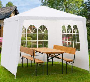 Bílý zahradní párty stan 3 x 3 m včetně bočnic