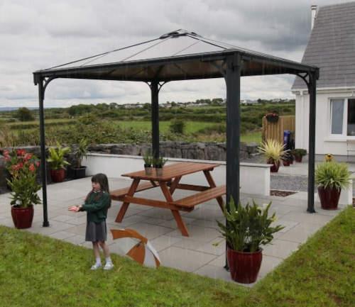 Hliníkový altán na zahradní terasu