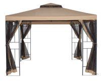 Kovový zahradní altán 3x3m s moskytiérou