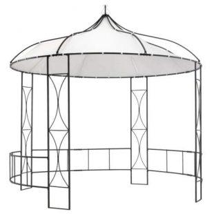 Romantický zahradní altán s kruhovou střechou