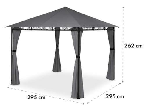 Zahradní altán 3 x 3 m s pevnou a stabilní kovovou konstrukcí