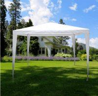 Klasický zahradní altán v bílém provedení