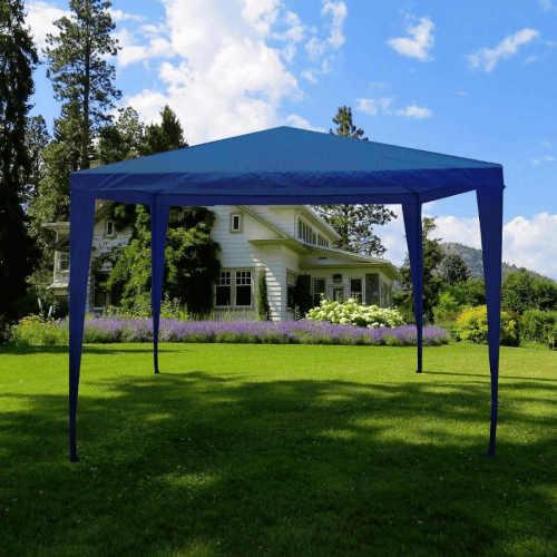 altán zahradní v modré barvě