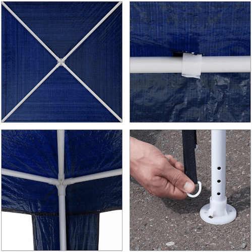 modrý altán o rozměru 3x3
