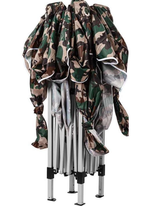 nůžkový altán v army stylu