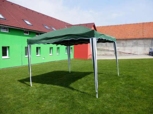 zahradní altán 3x3 v zelené barvě