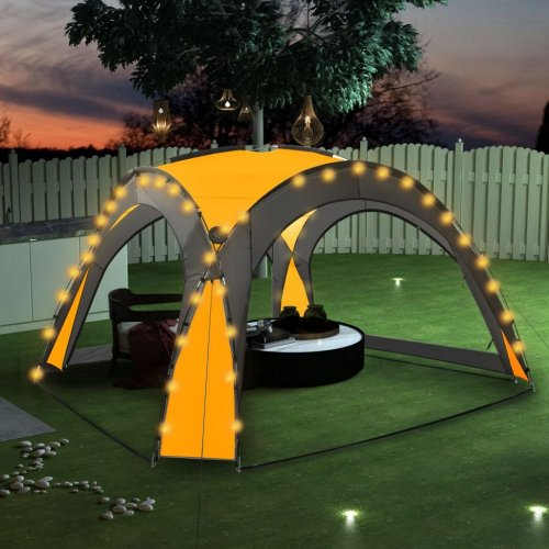 zahradní party stan žlutý